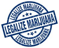 Legalice el sello de la marijuana libre illustration