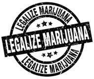 Legalice el sello de la marijuana libre illustration