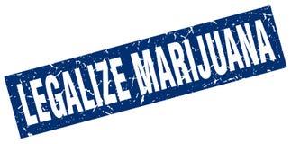 Legalice el sello de la marijuana ilustración del vector