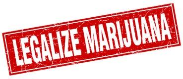 Legalice el sello de la marijuana stock de ilustración