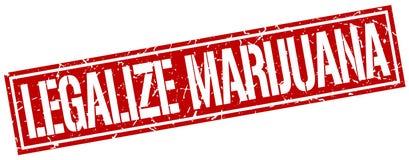 Legalice el sello del cuadrado de la marijuana stock de ilustración