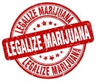 legalice el sello rojo de la marijuana ilustración del vector