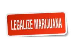 legalice la etiqueta engomada de la marijuana libre illustration