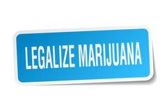 legalice la etiqueta engomada de la marijuana stock de ilustración