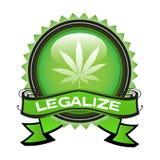 Legalice la marijuana stock de ilustración