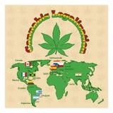 Legalisering av marijuana eller cannabis legaliserar vektor illustrationer