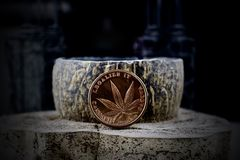 Legalize it, brass physical coin Royalty Free Stock Photos