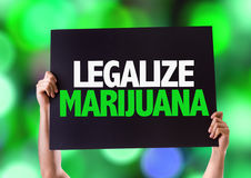 Legalize Marijuana card with bokeh background Stock Photography