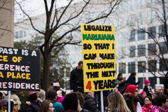 Legalize Marijuana - Womens March - Washington DC Stock Photography