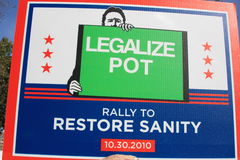 Legalize Pot sign Stock Images
