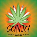 Legalizuje marihuana sztandar Fotografia Stock