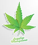 Legalizzi la marijuana Fotografia Stock