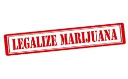 Legalizzi la marijuana Fotografia Stock Libera da Diritti