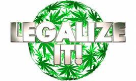 Legalizzilo uso medicinale del vaso della marijuana Fotografia Stock