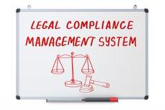 Legalna zgodność, systemu zarządzania pojęcie na suchym wymazuje Zdjęcia Stock