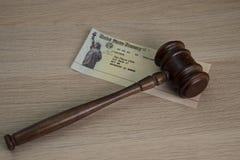 Legalność segregowanie dla Inwalidzkiego dochodu zdjęcia royalty free
