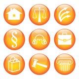 legalny ikona set Zdjęcia Royalty Free