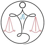Legalny logo Obrazy Stock