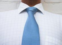 Legame blu del collo immagine stock