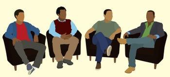 Legame degli uomini di colore Fotografia Stock