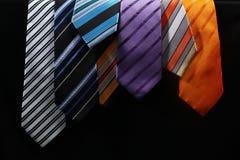 Legami Colourful per gli uomini Fotografie Stock Libere da Diritti