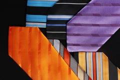 Legami Colourful per gli uomini Fotografia Stock