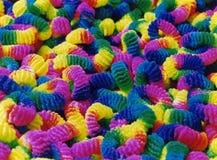 Legami dei capelli del Rainbow Fotografie Stock