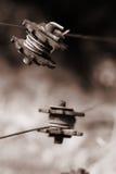 Legami del recinto di filo metallico del paese Fotografie Stock Libere da Diritti