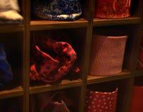 Legami e sciarpe per gli uomini e le donne Fotografia Stock