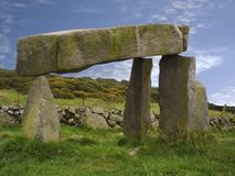 Legananny Dolmen. In the Mournes, Co. Down, Ireland Stock Images