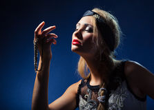 Legant beautiful woman with jewelry Royalty Free Stock Images
