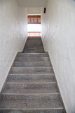 Legant stairway with white wall Stock Photography