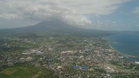 Legazpi stad in Pihilippines, Luzon Stock Foto