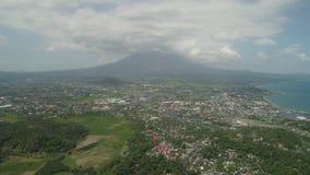 Legazpi stad in Pihilippines, Luzon stock footage