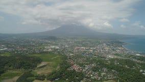 Legazpi-Stadt im Pihilippines, Luzon stockfotos