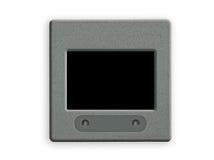 Lege 35 mmdia met frame op lightbox. Stock Afbeeldingen