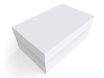 Lege 3d doos Stock Afbeeldingen