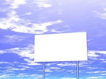 Lege aanplakbord en hemel op de achtergrond Stock Afbeelding