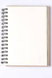 Lege achtergrond document spiraalvormige geïsoleerde notitieboekjes Stock Foto