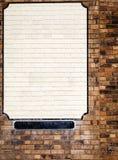Lege adverterende ruimte op bakstenen muur royalty-vrije stock fotografie