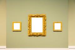Lege Art Museum Isolated Painting Frame-Decoratie binnen Muur stock foto's