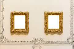 Lege Art Museum Isolated Painting Frame-Decoratie binnen Muur royalty-vrije stock afbeelding
