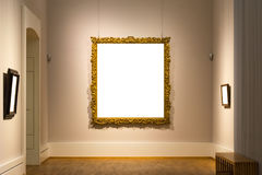 Lege Art Museum Isolated Painting Frame-Decoratie binnen Muur stock foto