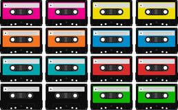 Lege audiobandcassettes stock illustratie