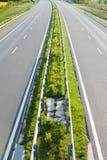 Lege Autosnelweg stock afbeelding