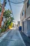 Lege backstreet in Los Angeles stock foto