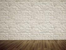 Lege bakstenen muur