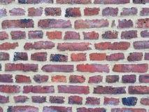 Lege Bakstenen muurtextuur Geschilderde Verontruste Muuroppervlakte Grungy Brede Brickwall Het Grungerood obstructie voert achter stock foto