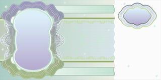 Lege bankbiljetlay-out Royalty-vrije Stock Afbeelding