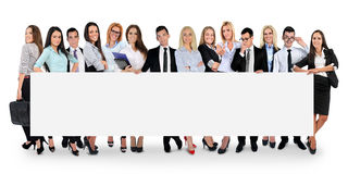 Lege banner met mensen stock foto's